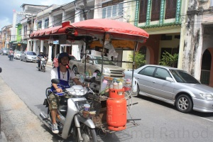 Mobile food vendor in Old Phuket Town