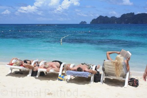Sunbathing in Phi Phi Don